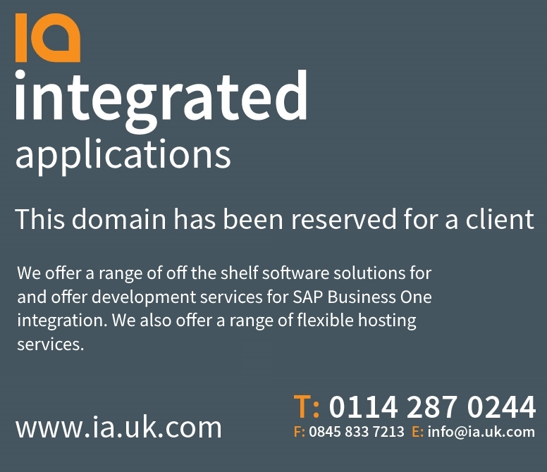 This domain has been registered for a client of Integrated Arts Limited.